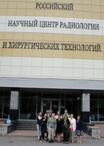 In June 2012, five Toronto residents visited St. Petersburg, Russia, here seen accompanied by Russian residents and Natalya Shuleshova, coordinator of the NIRVE program at the State Pavlov Medical University in St. Petersburg.