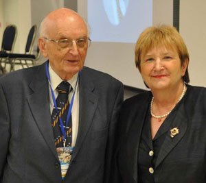 Vida Demarin, MD, honorary president of the INPC Congress, and Bosko Barac, MD.