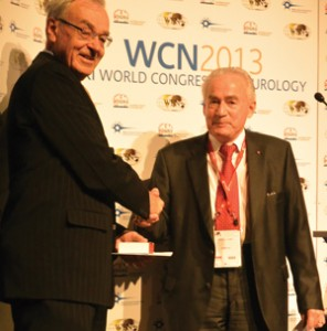 Johan Aarli (right) with WFN President  Vladimir Hachinski.