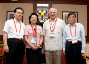 Figure 3. From left to right: Prof. Chuanqiag Pu, CSN president, Prof. Liying Cui, president-elect CSN, Raad Shakir, president WFN, and Prof. Chuan Zhen Lu, past president CSN.