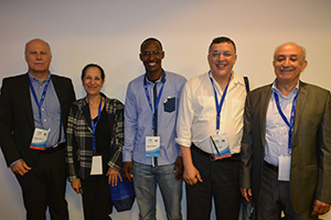 Left to right: W. Grisold, K. Al Zemmouri, M. Albakaye, C. Hicham, and El Alaoui M at the Maghrebian Congress of Neurology in Agadir, Morocco, November 2014.