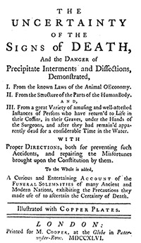 Figure 4. The Uncertainty of the Sign of Death (1746).