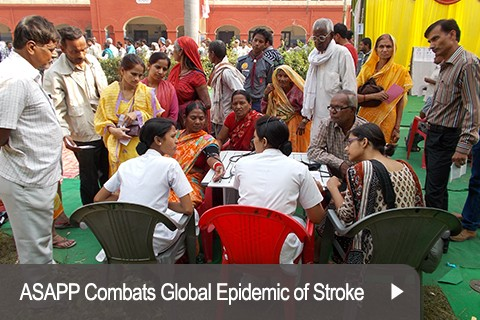 ASAPP Combats Global Epidemic of Stroke Stroke is the third leading cause of premature death and disability worldwide. The burden of stroke is growing in low and middle-income countries due to many factors including population growth and aging, urbanization, unhealthy diets, physical inactivity and smoking.