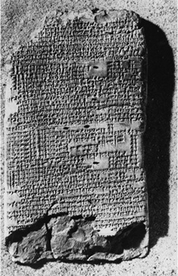 A Babylonian cuneiform text on epilepsy. Obverse of BM47753 in the British Museum.