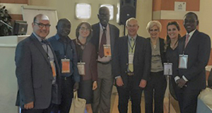 From left to right, Aksel Siva, Mustafa, Dr. Ozge, Pr Ndiaye; Alan Rapoport, Hayrunnisa Bolay, Dr. Uluduz and Gallo Diop.