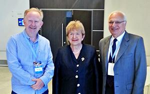 From left: Prof. Hrvoje Hecimovic; Prof. Vida Demarin, INPC president; and Prof. Raad Shakir, WFN president.