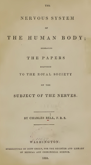 Charles Bell's The Nervous System of the Human Body (1833 American edition)