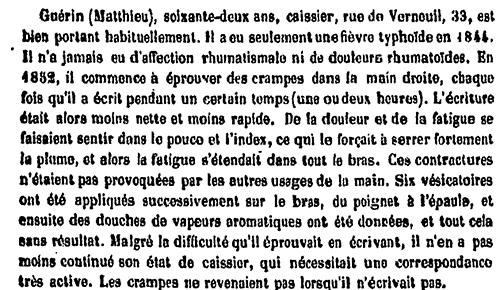 Duchenne's case 213, Matthieu Guérin