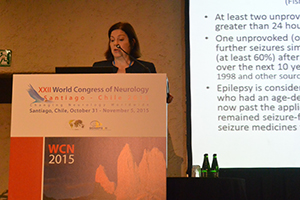 Cynthia L. Harden presents a morning teaching course on epilepsy.
