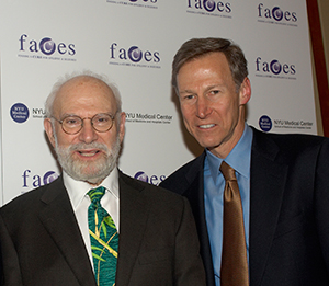 Oliver Sacks (left) and Orrin Devinsky.