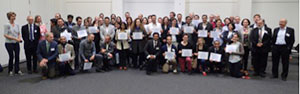 Successful candidates of the 7th EBN Exam in Berlin June 19, 2015 displaying their certificates