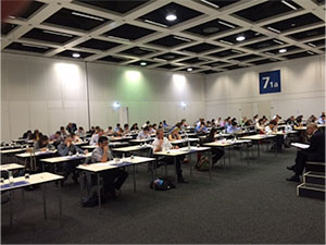 Candidates taking the written test on the 7th EBN Exam in Berlin