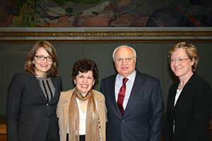 From left to right: Anne Hege Aamodt, president of Norwegian Neurological Association; Olga Bobrovnikova, renowned pianist battling MS and European Brain Council ambassador; Raad Shakir, WFN president; and Hanne F. Harbo, head of the Norwegian Brain Council. (Photo courtesy: Lise Johannessen Norwegian Medical Society.)