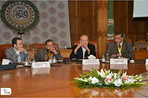 Meeting roundtable participants include, from left to right: Tamer Emara, the meeting's scientific coordinator, associate professor of neurology and the head of the teleneurology unit, Ain Shams University, Cairo; Professor Hani Aref, neurology department, Ain Shams University; Professor Magd Zakaria, meeting chairman and head of the neurology department, Ain Shams University; and Moderator Amr Abd Elmoneim, assistant professor of neurology, Ain Shams University.