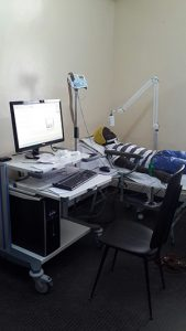 EEG room of the neurology department at Fann Teaching Hospital, Dakar, Senegal.