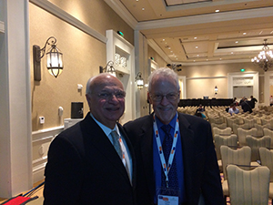 RAAD SHAKIR (LEFT) AND WALTER BRADLEY CHAIR THE TOPIC ADVISORY GROUPS FOR ICD-11 AND ICD-10.