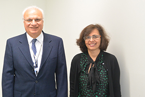 RAAD SHAKIR (LEFT) AND TARUN DUA, COORDINATOR OF THE WHO'S EVIDENCE, RESEARCH AND ACTION ON MENTAL AND BRAIN DISORDERS UNIT.