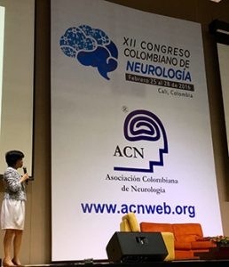 Official inauguration of the XII Colombian Congress of Neurology by Yuri Takeuchi, MD, Congress president.