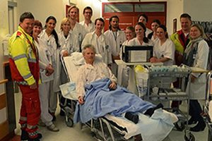 The acute stroke team at Oslo University Hospital, Norway. Photo: Espen Dietrichs, MD, PhD.