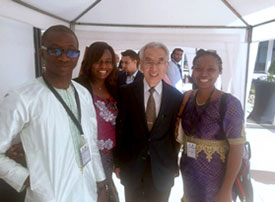 From left to right, Dr. Camara Massaman (Mali), Dr. Prisca Bassole (Burkina-Faso), Prof. Jun Kimura (Japan), and Dr. Annick Magnerou (Cameroon)