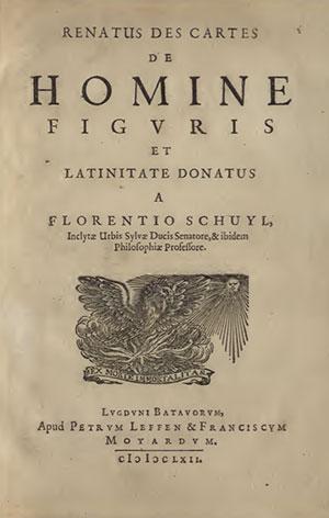 Title page of Descartes' De Homine (1662).